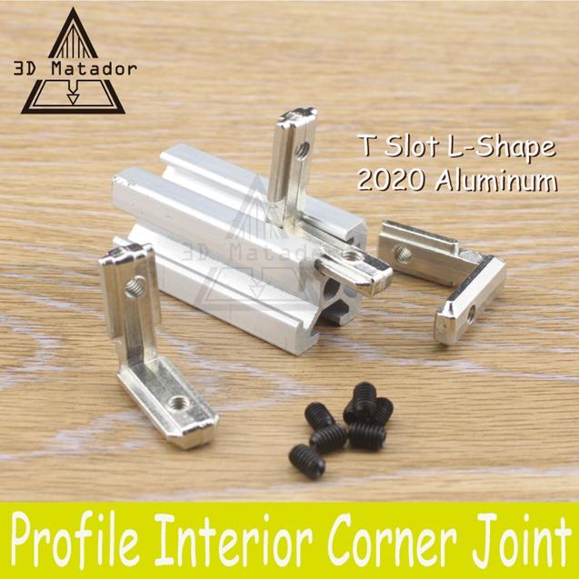 3D-Printer-20pcs-2020-Aluminum-profile-with-screws-T-Slot-L-Shape-2020-Aluminum-Profile-Interior