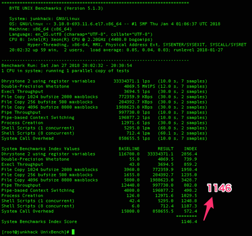 _ssh_—_root_junkhack___apl_byte-unixbench_UnixBench_—_ssh_take_35_200_27_163_—_142×50